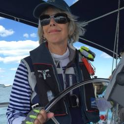 Beth at the helm