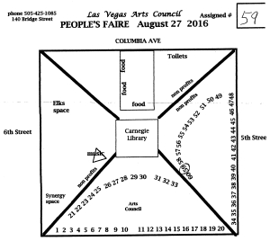 People's Faire Map